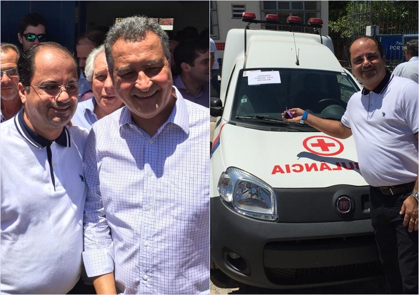 Prefeitura de Jussiape recebe Ambulância e aparelho de Raio X do Governo do Estado