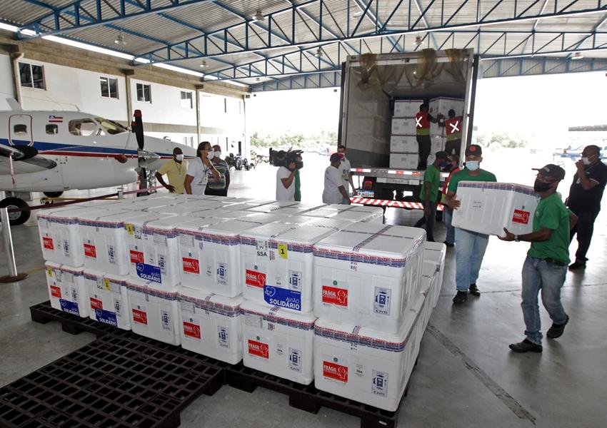 Covid-19: Bahia receberá 5,5 milhões de vacina nesta semana