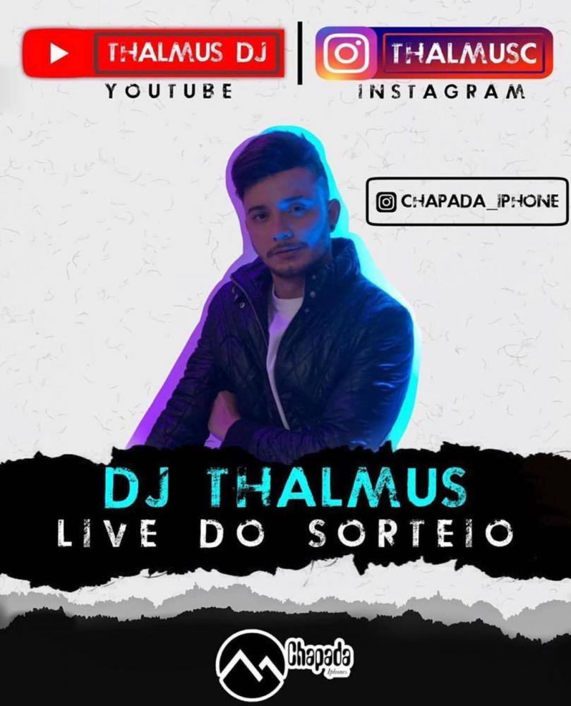 Live do sorteio acontecerá nesta sexta-feira (08) com Dj Thalmus às 20h