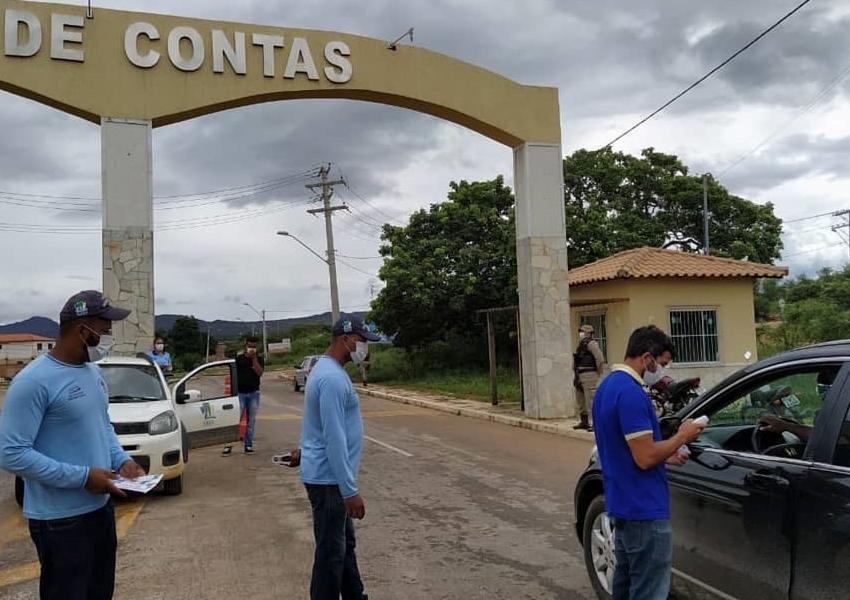 Coronavírus: Prefeitura de Rio de Contas montam barreiras nos portais de entrada e saída da cidade