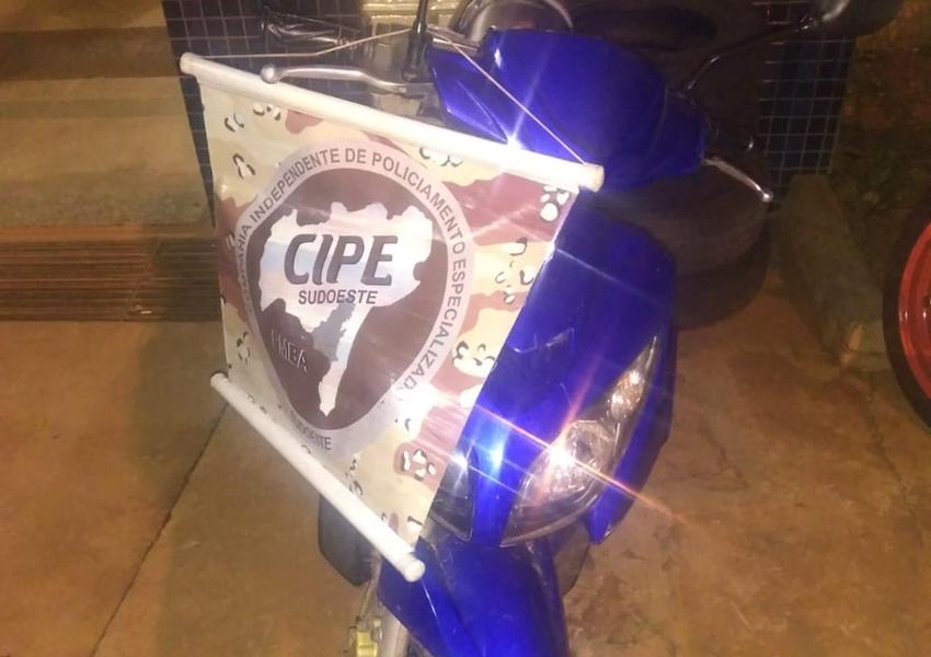 Paramirim: Cipe Sudoeste apreende moto com chassi adulterado