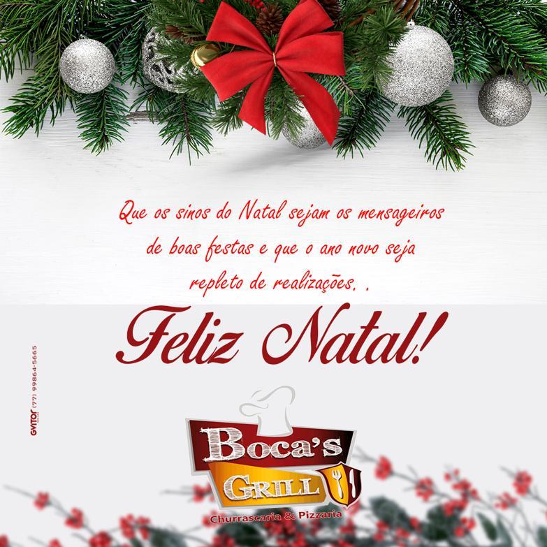 Mensagem de boas festas da Churrascaria e Restaurante Bocas Grill