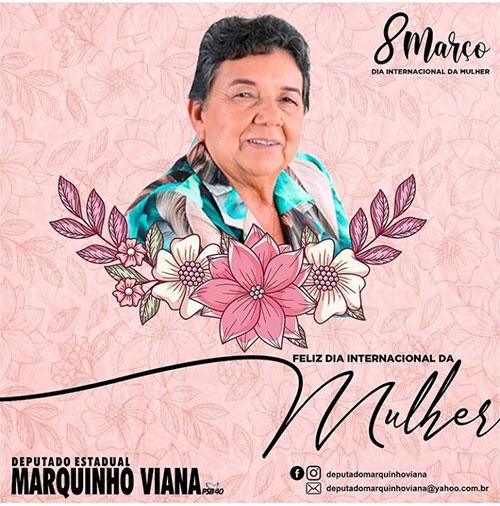 Deputado Marquinho Viana homenageia o Dia Internacional da Mulher lembrando Dona Lúcia