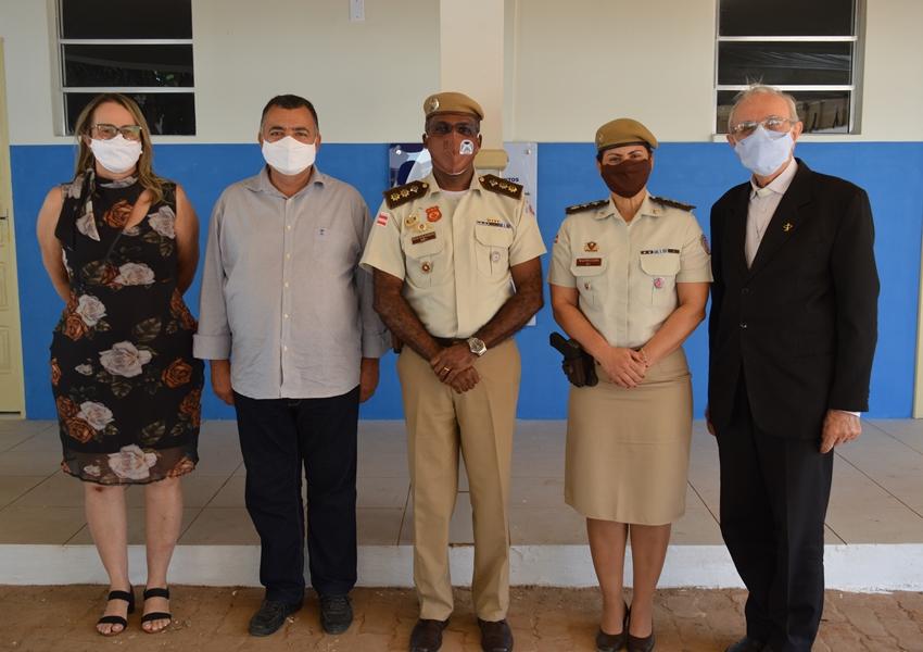Livramento: Prefeito  e Vice-prefeita participaram da solenidade de inauguração dos alojamentos da 46ª CIPM