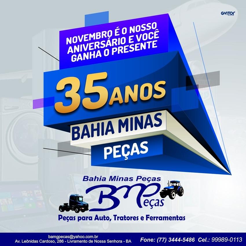 Livramento: Bahia Minas Peças comemora 35 anos e o presente quem ganha é você