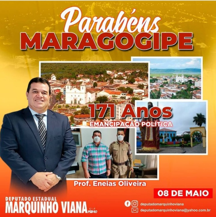 Deputado Marquinho Viana parabeniza Maragogipe pelos 171 anos de emancipação política