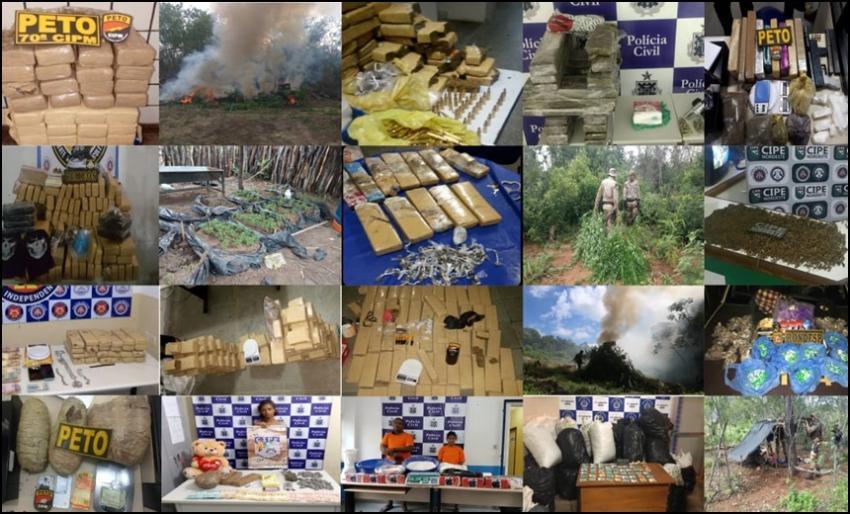 Em 2018, Polícia baiana já apreendeu cerca de R$ 9 milhões em drogas