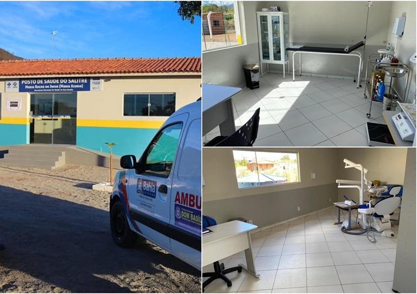 Dom Basílio: Prefeito inaugura Posto de Saúde na comunidade de Salitre