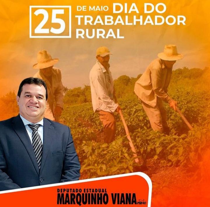 Deputado Marquinho Viana homenageia o Dia do Trabalhador Rural