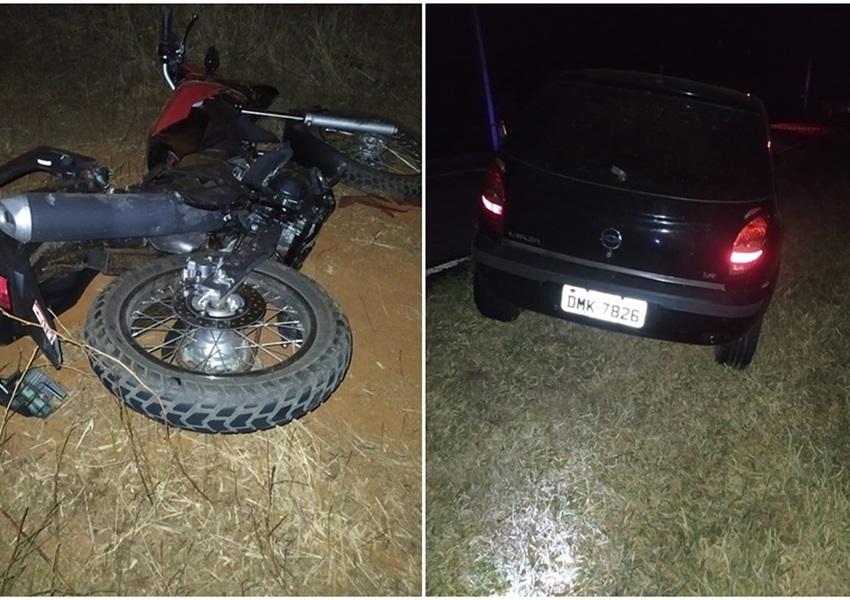 Paramirim: Acidente envolvendo carro e moto deixa uma vitima fatal na BA-152