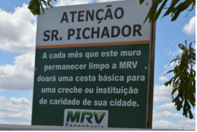 Combatendo a Pichação: empresa doa cesta básica caso muro não seja pichado em Vitória da Conquista