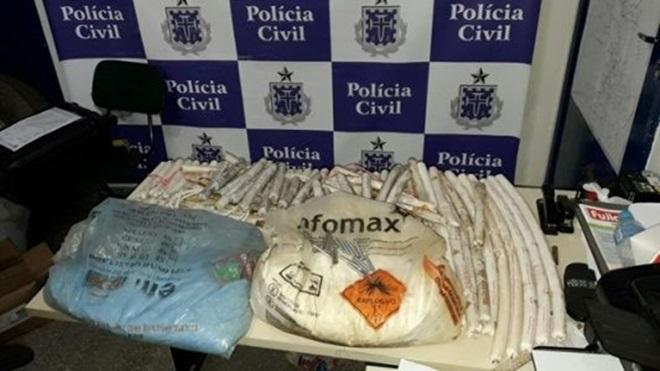 Polícia Civil apreende explosivos em fazenda no município de Novo Horizonte