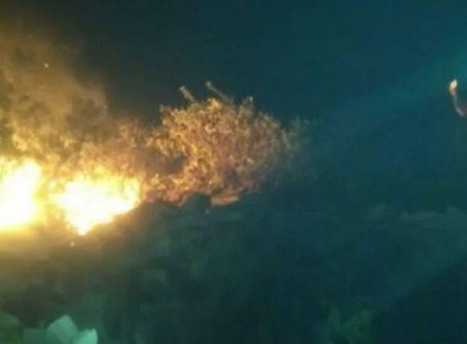 Jacobina: Fogo consome quase 60 hectares de Serra do Tombador