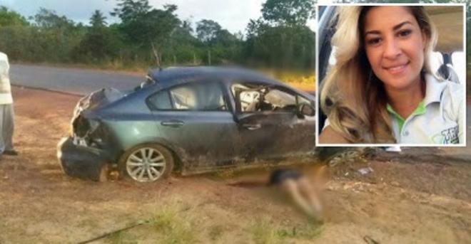 Mulher morre em grave acidente ocorrido na BA-504 no interior da Bahia