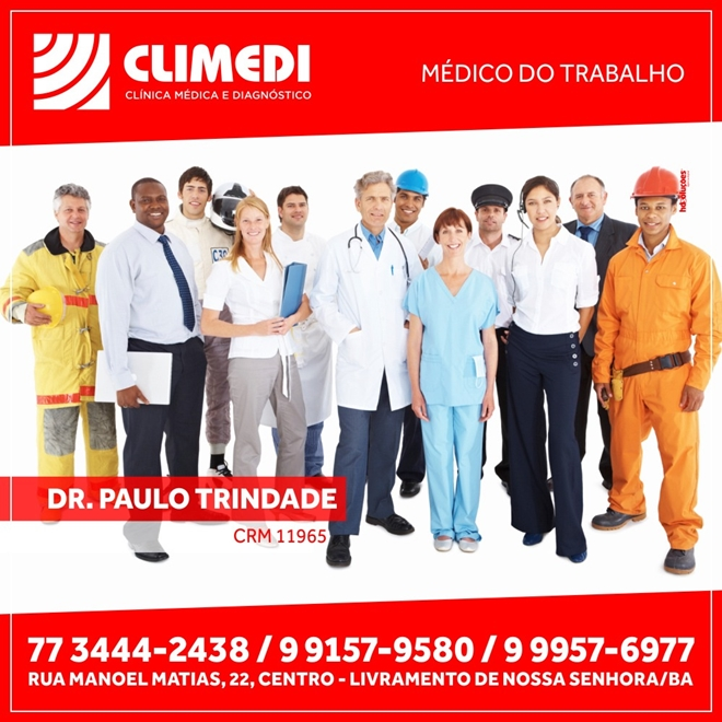 Climedi: Drº Paulo Trindade médico do trabalho