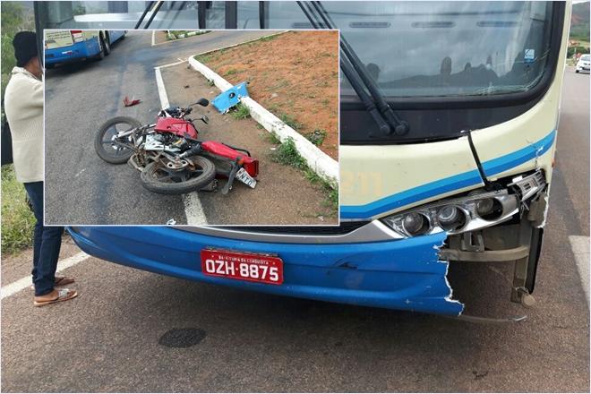 Homem morre após colidir motocicleta contra ônibus da Novo Horizonte