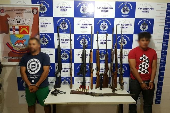 Nove armas apreendidas podem ter sido utilizadas em ataque a banco em Irecê