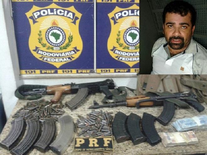 PRF apreende fuzis e munições com criminoso em Vitória da Conquista