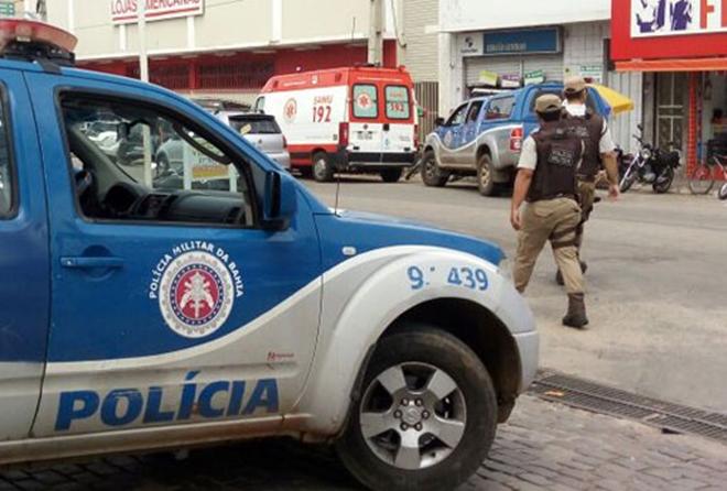 Durante tentativa de assalto, bandido atira em funcionário de lotérica em Brumado
