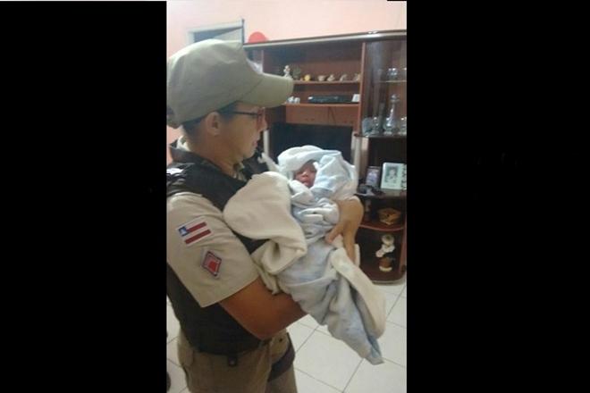 Polícia Militar resgata recém-nascida abandonada em Jacobina