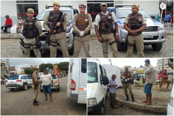 Blitz fiscaliza vans no município de Livramento de Nossa Senhora