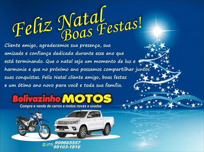 Mensagem de Natal da Loja Bolivazinho Motos
