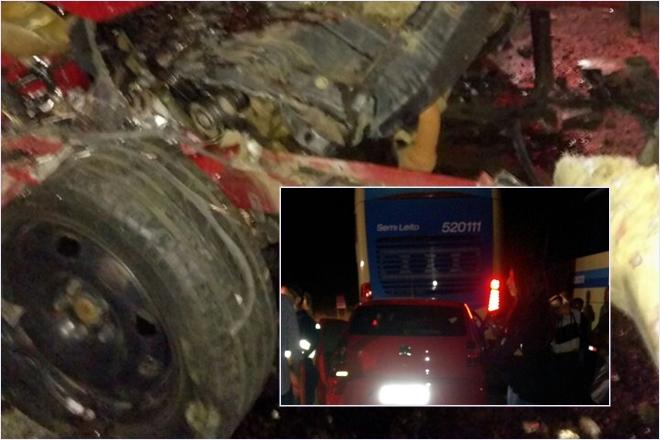 Guanambi: Homem morre após colidir carro contra fundo de ônibus na Serra dos Brindes