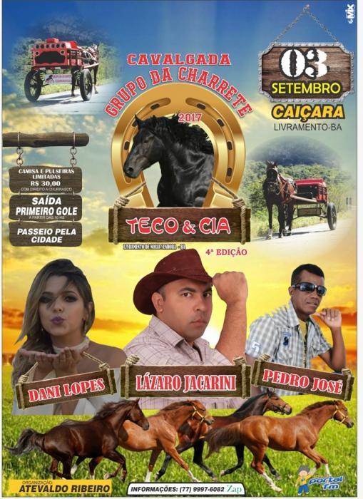 Vem aí a 4ª Edição da Cavalgada Grupo da Charrete Teco & Cia