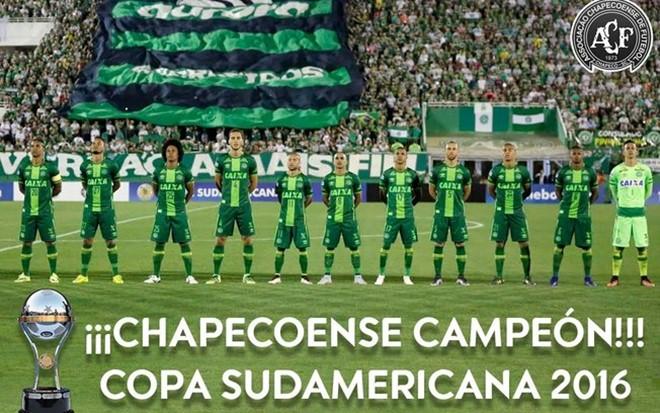 Conmebol declara Chapecoense campeã da Copa Sul-Americana