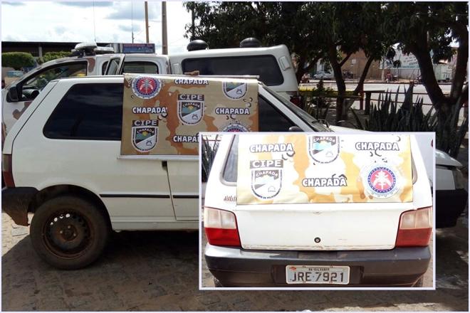 Paramirim: CIPE Chapada apreende veículo adulterado