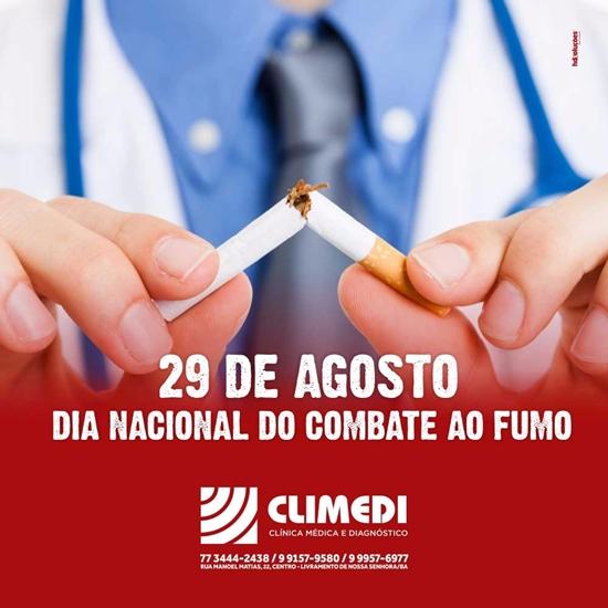 Climedi: Dia Nacional de Combate ao Fumo