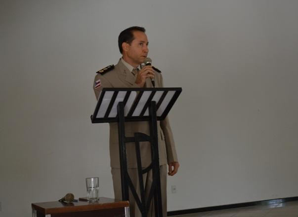 Em seu discurso Ten Coronel Irlando Oliveira, ressaltou a importância da parceira com a Imprensa