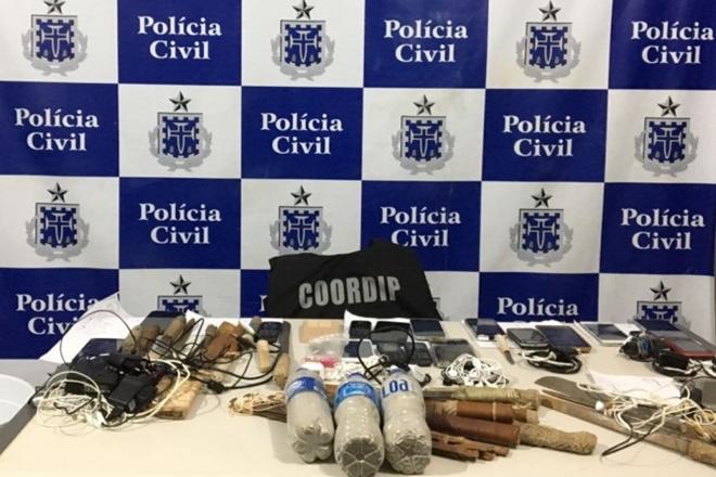 """Jequié: Operação """"The Dollar Rising"""" apreende drogas e celulares dentro do Conjunto Penal"""