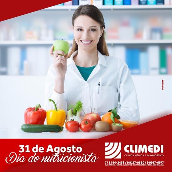Climedi: 31 de agosto dia do Nutricionista