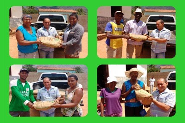 Comunidades Quilombolas recebe 2 mil quilos de sementes de feijão para a Agricultura Familiar nas Safras Verão e Inverno