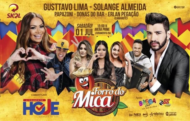 Forró do Mica: Festa com Gusttavo Lima e Solange Almeida bate recorde de vendas