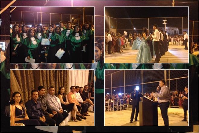 Livramento: Em São Timotéo prefeito participa de cerimônia de conclusão do ensino médio