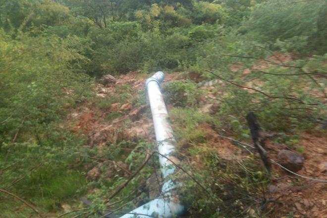 Após conserto de adutora abastecimento de água em Livramento já está normalizado