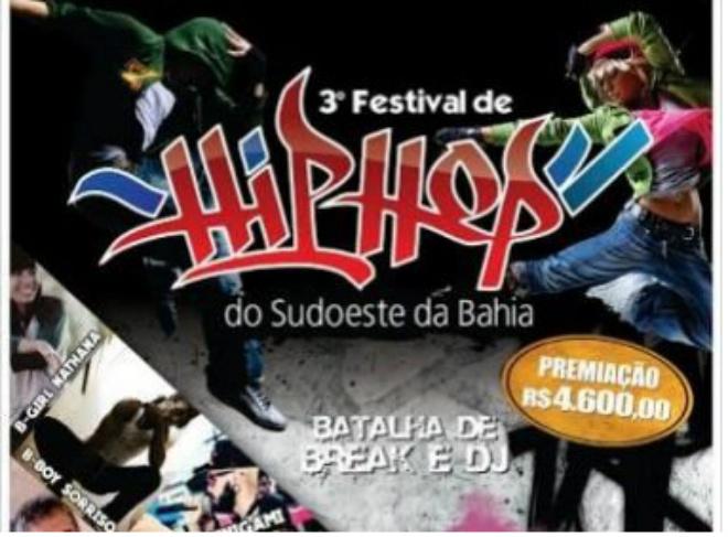 III Festival de Hip Hop do Sudoeste da Bahia abre inscrições nesta quarta
