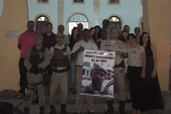 Livramento: Policiais da 46ª CIPM participam de missa em homenagem ao SGT Luciano Reis