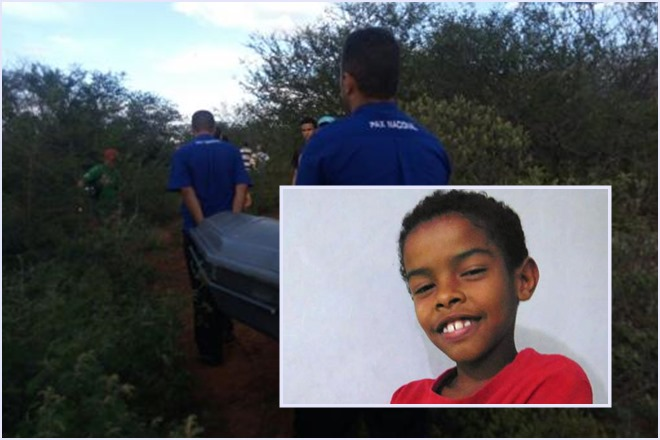 Brumado: corpo do menino Emerson Kauan Santos foi encontrado no Bairro Cidade das Esmeraldas