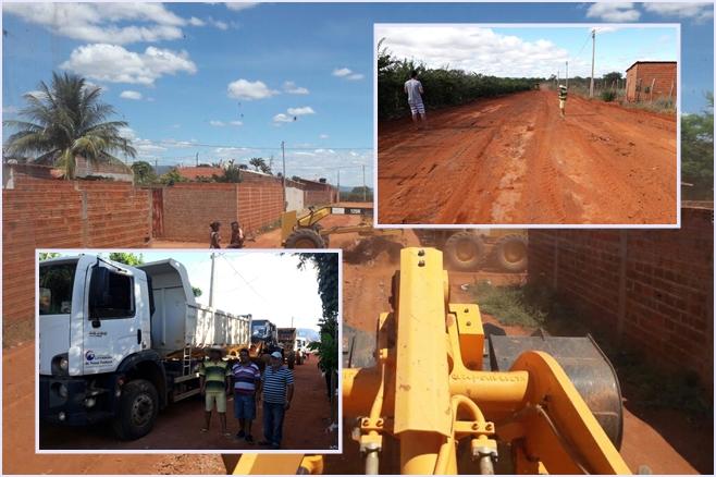 Prefeitura realiza serviços de limpeza no Bairro Benito Gama e Taquari