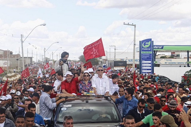 Com Dilma, Lula inaugura obra na Paraíba