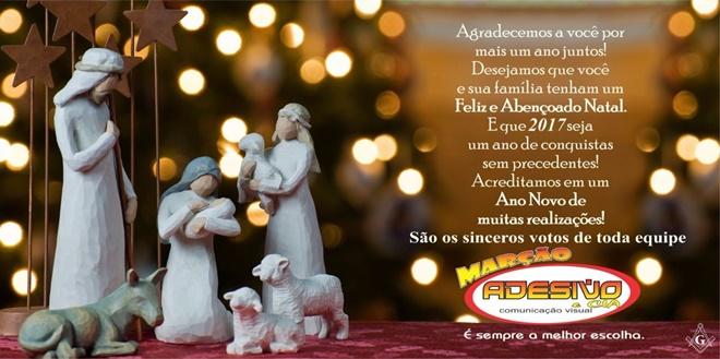 Mensagem de Natal da loja Marção Adesivo e Cia