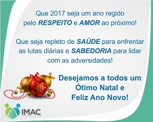 Mensagem de Natal do IMAC