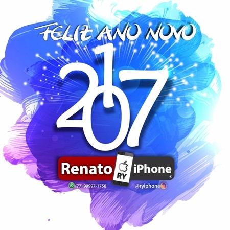 Mensagem de Ano Novo da loja Renato Iphone