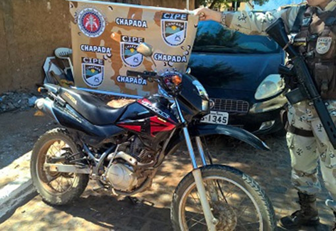 Livramento: Cipe Chapada apreende motocicleta com numerações de chassi e motor suprimidos