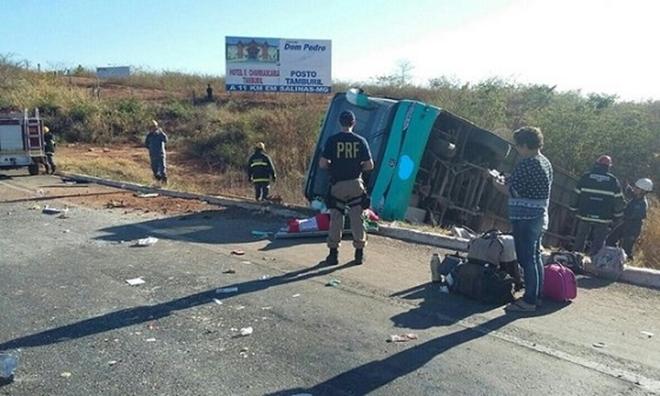 Ônibus de acidente em Minas Gerais estava irregular