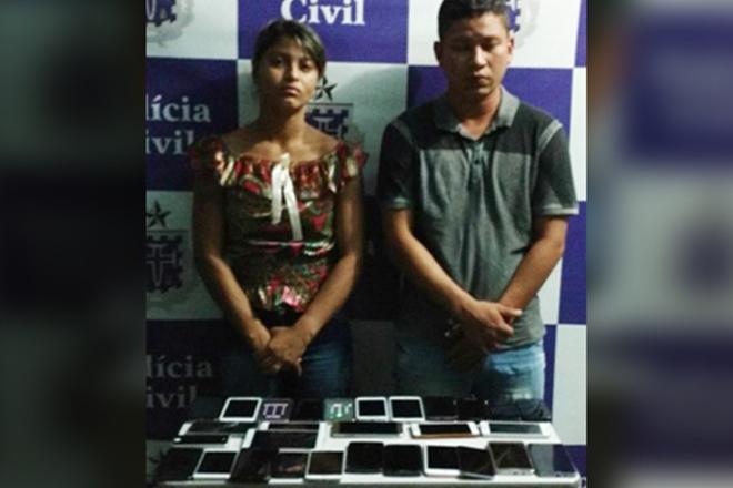 Casal que veio do Maranhão só para roubar em festa da Bahia é preso com 29 celulares