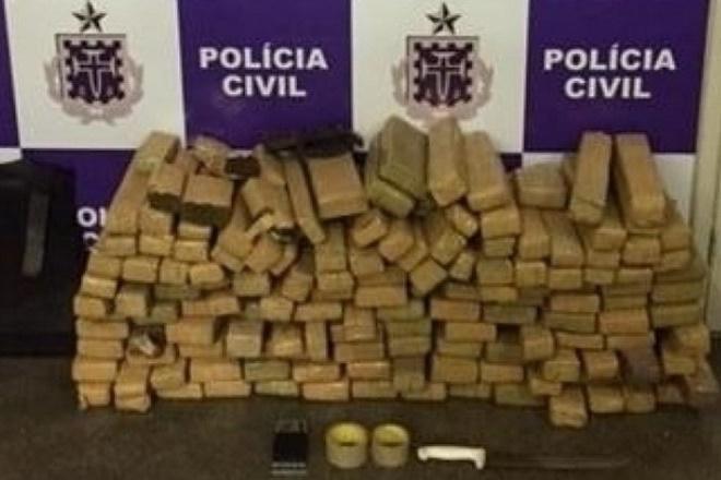 Polícia apreende mais de 150 kg de maconha em Itabuna